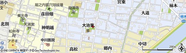 愛知県大治町(海部郡)北間島(屋敷)周辺の地図