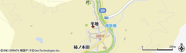 愛知県豊田市田茂平町(平地)周辺の地図