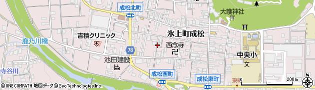 兵庫県丹波市氷上町成松周辺の地図