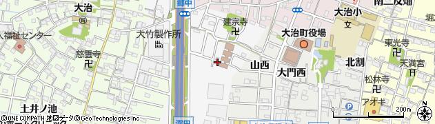 愛知県大治町(海部郡)中島周辺の地図