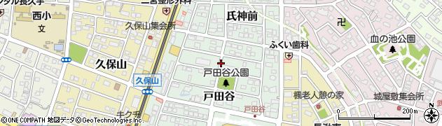 愛知県長久手市戸田谷周辺の地図