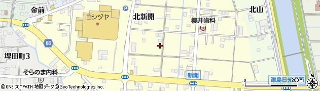 愛知県津島市津島周辺の地図