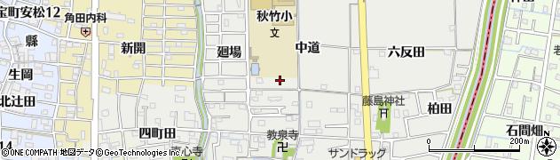 愛知県あま市七宝町秋竹(中道)周辺の地図