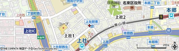ボナール上社店周辺の地図