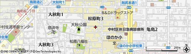 愛知県名古屋市中村区松原町周辺の地図