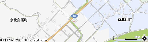 京都府京都市右京区京北鳥居町(伏拜)周辺の地図