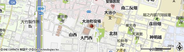 愛知県海部郡大治町周辺の地図