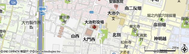 愛知県大治町(海部郡)周辺の地図