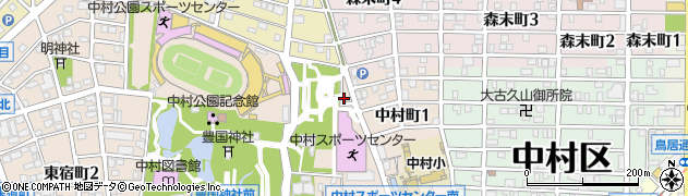 愛知県名古屋市中村区中村町(待屋)周辺の地図