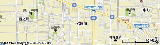 愛知県津島市神守町(八反田)周辺の地図