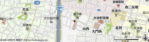 愛知県大治町(海部郡)中島(大門先)周辺の地図