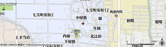 愛知県あま市七宝町安松周辺の地図