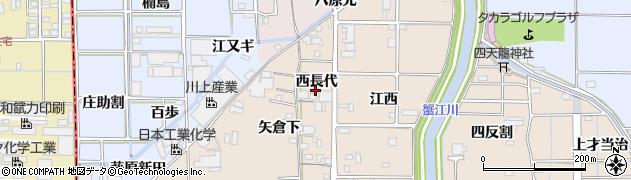 愛知県あま市七宝町下田(西長代)周辺の地図
