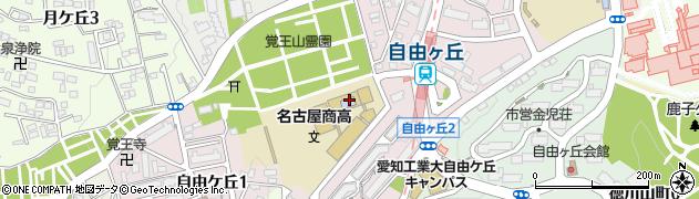 愛知県名古屋市千種区自由ケ丘周辺の地図