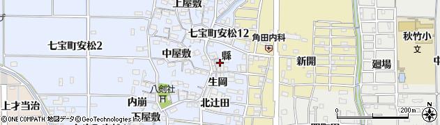 愛知県あま市七宝町安松(縣)周辺の地図