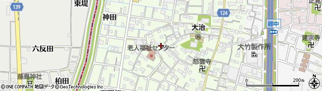 愛知県大治町(海部郡)西條(西之割)周辺の地図