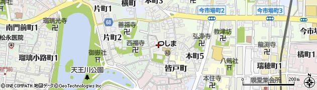 愛知県津島市舟戸町周辺の地図