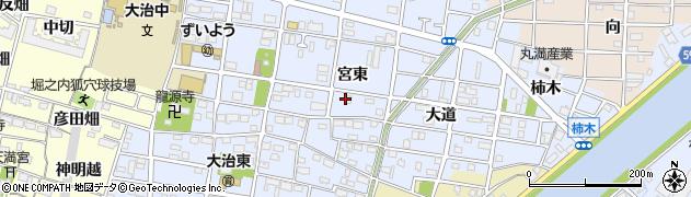 愛知県大治町(海部郡)北間島周辺の地図