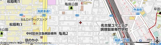 愛知県名古屋市中村区亀島周辺の地図