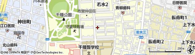 愛知県名古屋市千種区若水周辺の地図