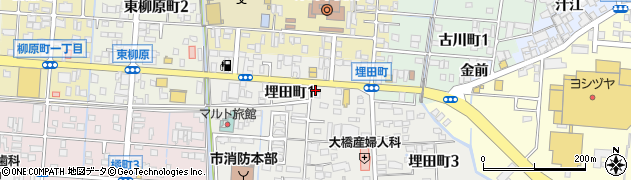 幸楽苑津島店周辺の地図