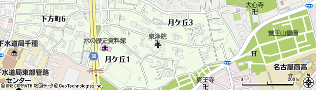 泉浄院周辺の地図