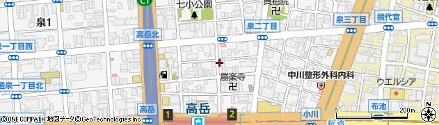 赤石周辺の地図