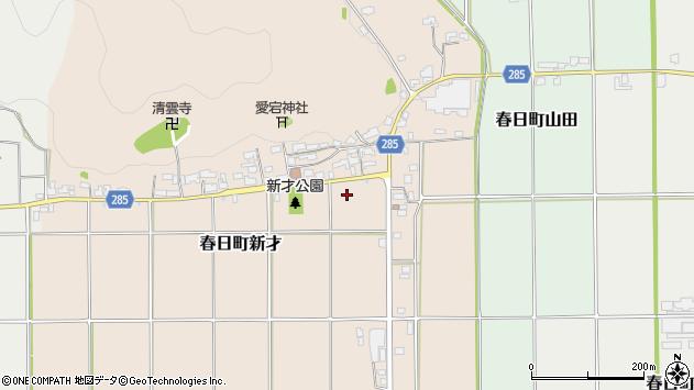 〒669-3402 兵庫県丹波市春日町新才の地図