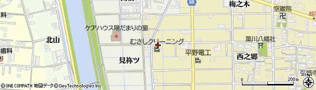 愛知県津島市越津町(馬三味)周辺の地図