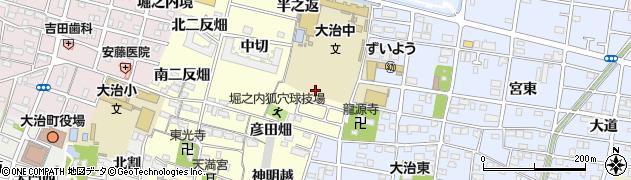 愛知県大治町(海部郡)堀之内(狐穴)周辺の地図