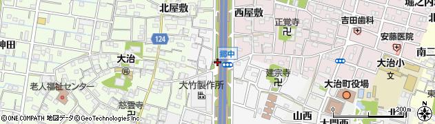 愛知県大治町(海部郡)中島(郷中)周辺の地図