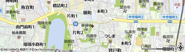愛知県津島市筏場町周辺の地図