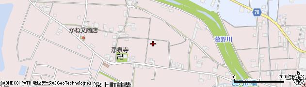 兵庫県丹波市氷上町柿柴周辺の地図