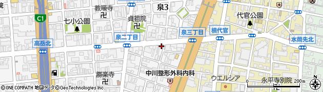 まっち棒 泉店周辺の地図