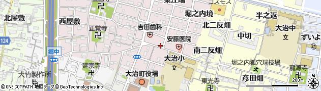愛知県大治町(海部郡)花常(中切)周辺の地図