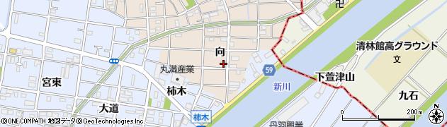 愛知県大治町(海部郡)長牧(向)周辺の地図
