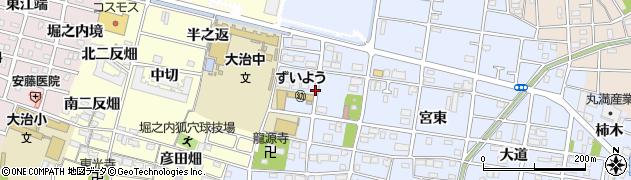 愛知県大治町(海部郡)北間島(宮西)周辺の地図