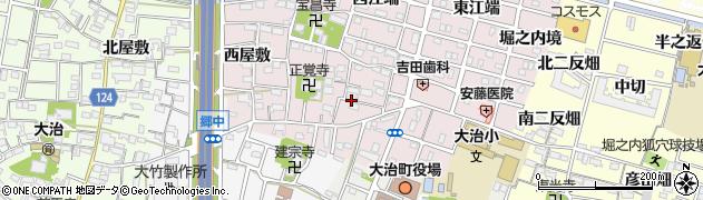 愛知県大治町(海部郡)花常(東屋敷)周辺の地図