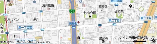 愛知県名古屋市東区泉周辺の地図