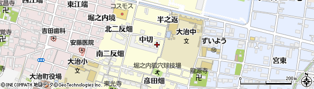 愛知県大治町(海部郡)堀之内(中切)周辺の地図
