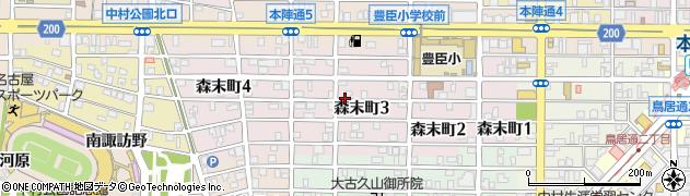 愛知県名古屋市中村区森末町周辺の地図