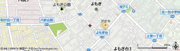 愛知県名古屋市名東区よもぎ台周辺の地図