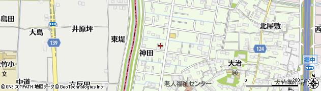 愛知県大治町(海部郡)西條(神田)周辺の地図