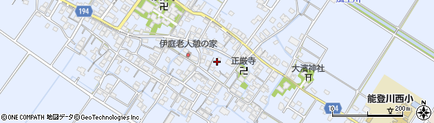 滋賀県東近江市伊庭町周辺の地図