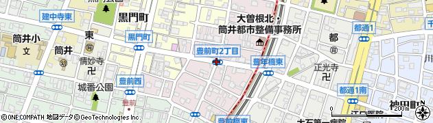 愛知県名古屋市東区豊前町周辺の地図