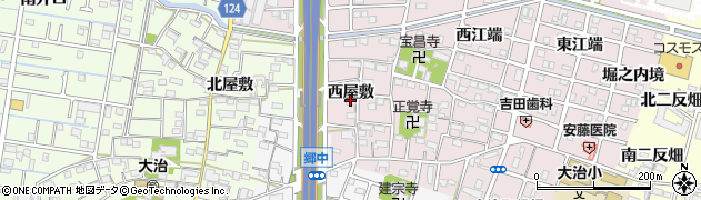 愛知県大治町(海部郡)花常(西屋敷)周辺の地図