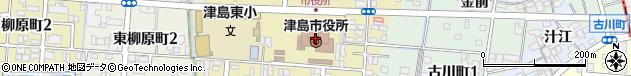 愛知県津島市周辺の地図