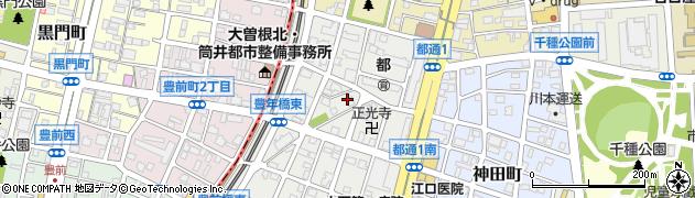 愛知県名古屋市千種区豊年町周辺の地図
