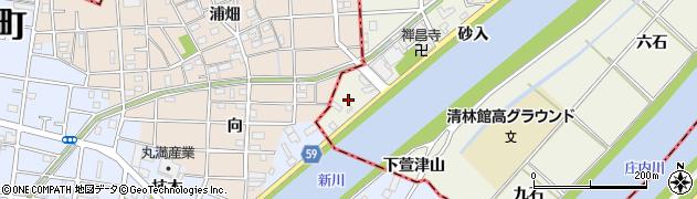 愛知県あま市下萱津(砂入)周辺の地図