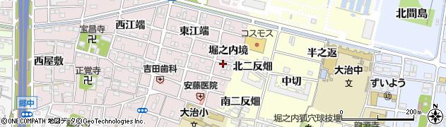 愛知県大治町(海部郡)花常(堀之内境)周辺の地図